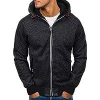 Quaan Herren Mode Herbst Winter Herbst Patchwork Reißverschluss mit Kapuze Sweatshirt Outwear Oberteile Bluse Beiläufig Jacke Warm Sport Sonnenlicht Einfach gemütlich Mantel