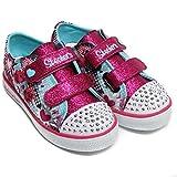 Twinkle Toes by Sketchers Twinkle Breeze Pop-Tastic Sneakers 23 Turquoise - Hot Pink