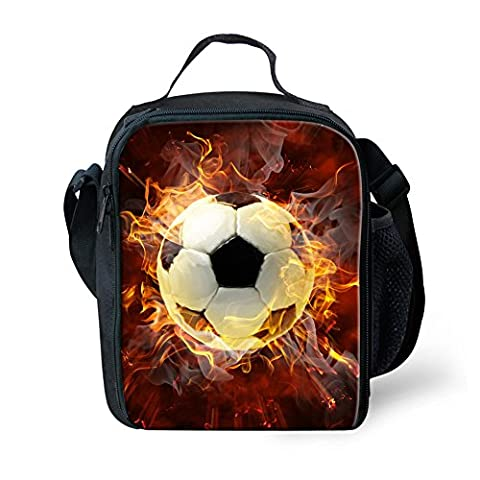 Coloranimal Stylish Thermal Lunch Bags for Kids Football Pattern lunchboxes