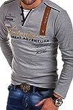 MT Styles 2in1 Longsleeve ADVENTURE T-Shirt R-0663 [Grau, 3XL]