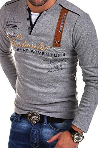 MT Styles 2in1 Longsleeve ADVENTURE T-Shirt R-0663 [Grau, XXL]