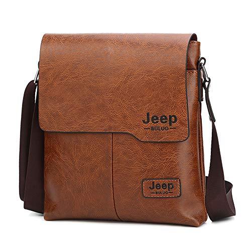 Leder Umhängetasche,Premium Herren Schultertasche Herrentaschen Messenger Bag Handtasche Aktentasche für Arbeit im Vertikal Style