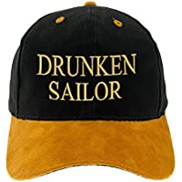 4sold 100% Cotton Ancient Mariner, Captain Cabin Boy Crew First Mate Anchor Yachting Baseball Cap inscription Lettering Black Gold