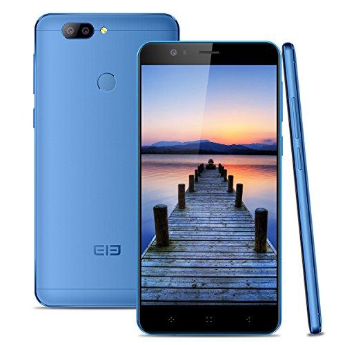 Elephone P8 mini 4G Smartphone Libre (4GB RAM + 64GB Rom, Dual Cámara 16 MP+13MP, Dual SIM Android 7.0 Teléfono Celular, MT6750T Octa-core 1.5GHz, Pantalla FHD 5.0'', Fingerprint GPS OTG) - Azul