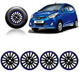 #4: Autopearl - Premium Quality Car Black and Blue Wheel Cover Caps 12 Inch Press Type Fitting For - Hyundai Eon D Lite