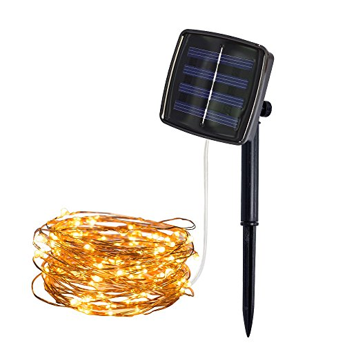 Lichterkette,FeiliandaJJ 5M 50pcs Wasserdichte Solar-Deko-Lichterkette LED Licht Hochzeit Party Halloween Xmas Innen/Außen Haus Deko String Lights (Gelb) (Halloween-outdoor Net Lichter)