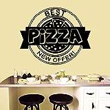 mmzki Pizza Shop Wandtattoo Abnehmbare Pizzeria Fast Food