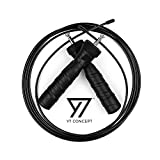 Y7 Concept Skipping Rope for Fitness - Adjustable 10ft Cable Speed Jump Rope