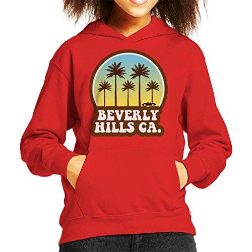 Coto7 Beverly Hills California 70s Beach Drive Kid's Hooded Sweatshirt