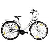 Pegasus Avanti 28' Damenfahrrad 7 Gang Shimano Citybike 28 Zoll Trekkingrad, Rahmenhöhe:50 cm, Farbe:weiß
