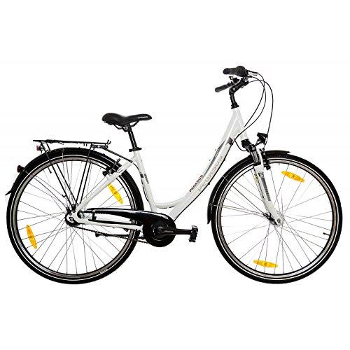 Pegasus Avanti 28' Damenfahrrad 7 Gang Shimano Citybike 28 Zoll Trekkingrad, Rahmenhöhe:45 cm, Farbe:Weiss