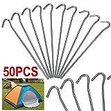 Yahee 50 x Zeltheringe Zeltnagel 20 cm für Zelt aus verzinktem Stahl