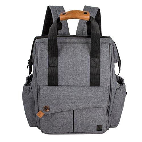 ALLCAMP Wickeltasche, Windelrucksack mit großer Kapazität Taschen, unterstützen alle Kinderwagen mit Wickelunterlage (grau)