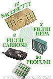 12 Staubsaugerbeutel + 15 Duftstäbe + 2 HEPA-Filter + 2 Geruchsfilter für VK130 und VK131 Staubsauger von Vorwerk, anpassungsfähig