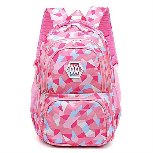 KHDJH backpackChildren Schultaschen Für Jugendliche Jungen Mädchen Große Kapazität Rucksack wasserdichte Schultasche Kids Book Bagpink small (Dc-rucksäcke Für Jugendliche)