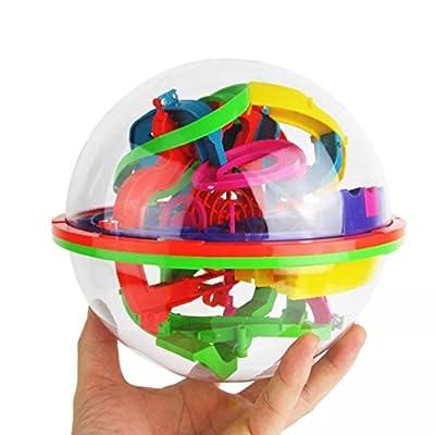 Omiky® 100 Barrieren 3D Labyrinth Magic Intellekt Ball Balance Labyrinth Perplexus Puzzle Spielzeug von Omiky®