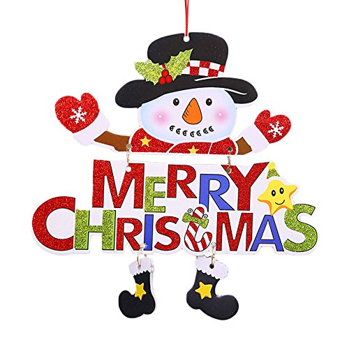 Kd Tür (Kicode TOPmountain Weihnachten Anhänger Kreative Snowman Tür Weihnachtsmann Weihnachtsbaum Hängende Dekoration Ornament Festival-Party)