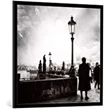 """Cuadro con marco: Louis-Philippe Provost """"Standstill"""" - Impresión artística decorativa con marco de alta calidad, 95x95 cm, Negro / canto gris"""