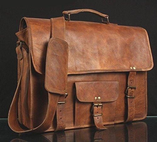 Satchel des hommes de cuir vritable Vintage Messenger Man Porte documents Sac pour ordinateur portable HandBag
