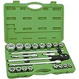 JBM 51308funda plástico para herramienta llave de tubo, 3/4pulgadas de vaso, 6Pams, Set de 22