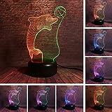 3D illusione delfino gioca palla LED lampada da tavolo lampada da tavolo luce notturna 7 colori USB touch lampada bambini vacanza in famiglia regalo di Natale decorazione della casa