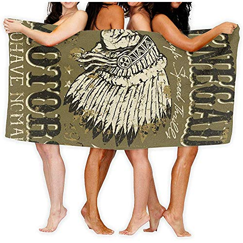 chillChur-DD Bath Towel Asciugamani da Bagno per Abbigliamento Moto d'Epoca Americana, casa, Affari, Doccia, Vasca, Palestra, Piscina - Lavabile in Lavatrice, Assorbente, 80X130 cm