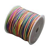 TOOGOO(R) Le noyau de bijoux faits a la main de DIY fait tourner la corde elastique de corde extensible 0.8mm * 100m Couleurs melangees