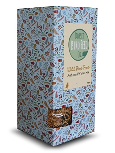 Dorset Bird Seed Autumn Winter Mix 1.5kg - 100% biodegradable Packaging - NO PLASTIC! 1