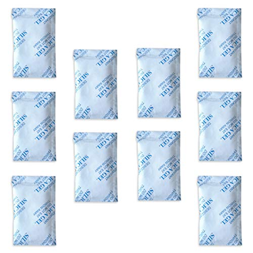 Paquetes gel sílice E-Cron Tyvek 10 x 10 g. Desecante