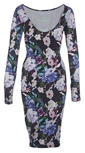 Ex Lipsy Ex Kardashian Kollection Purple Floral Dress Size 8 10 12 14 16 18 (UK 14)