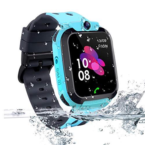 Vannico Smartwatch Niños, Reloj Localizador GPS Niños Impermeable Smartwatch con Linterna de...