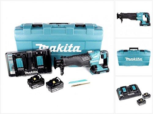 Preisvergleich Produktbild Makita DJR 360 PTJ Reciprosäge Säbelsäge im Koffer 2x 18 V mit 2x BL 1850 5,0 Ah Akku und Doppel Ladegerät