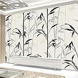 Fushoulu Benutzerdefinierte Fototapeten Literarische Einfache Ölgemälde Bambus Kunstwand Wohnzimmer Schlafzimmer Sofa Wanddekoration Tapete Fresko-120X100Cm