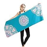 GWELL Yoga Handtücher Mikrofaser Rutschfest und Leicht Travel Yogamatte gilt für Yoga, Fitness, Training, Outdoor-Sport Muster-A