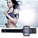(Black) Armband Pouch Case Cover iPhone 5C 5S 5 4S 4