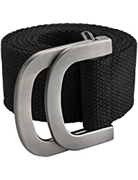 9b35877603e Ayliss Mens Belts Military Web Canvas Double D-Ring Buckle Tactical Belt