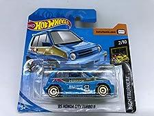 2019 Hot Wheels '85 Honda City Turbo 11 Blue 2/10 HW NightBurnerz 81/250 (Short Card)
