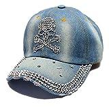Damen Jeans Baseball Cap Fashion Kappe Mit Strass Trend Schriftzug Und Mode Marken Glitzer Hip Hop Hut Schirmmütze (Color : Sch?Del, Size : One Size)