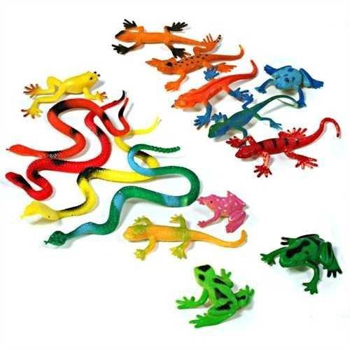 german-trendsellerr-24-x-gekko-schlangen-frosche-mix-mitgebsel-reptilien