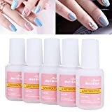 Nail Glue, FAVOLOOK Super Strong Nail Tip Bond Adhesive Glue - Perfect for False Acrylic Art Natural, Dimonties, Glitter, Rhinestones, Diamantes, Jewels, Gems, White Clear Tip Applications - Anti Fung