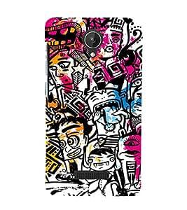 EPICCASE Tribal Art Mobile Back Case Cover For Micromax Canvas Spark Q380 (Designer Case)