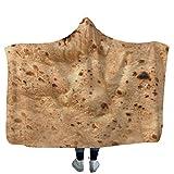 MDenker Deckenumhang Wolldecke Tortilla Texture Soft Fleece Wurfdecke Super Weicher Umhang Decke ,130X150Cm