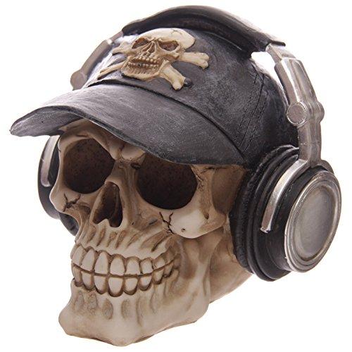 Puckator SK193 - Hucha diseño de calavera con auriculares y gorra