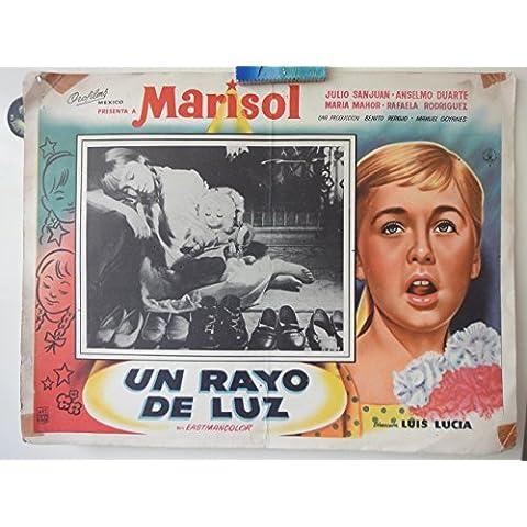 Original Mexican Lobby Card Un Rayo De Luz Marisol Julio Sanjuán Luis Lucia 1960