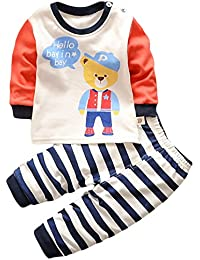 HENGSONG Chapeau Ours Impression Garçons Filles Coton Pyjama Bébé Four Seasons Sous-vêtements Ensembles Enfants