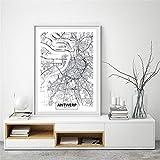 Rjjwai Antwerpen Stadtplan Poster Leinwand Kunstdrucke