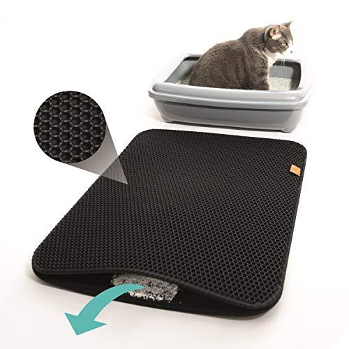 Premium Katzenklo Vorleger von PFOTENOLYMP - innovatives Design geschützt vom Deutschen Patent- und...