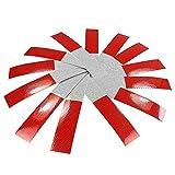 Anki 100gewidmet dot-c25,1cm X 10'rot/weiß Reflektierendes Klebeband Conspicuity Sicherheit Vorsicht Warnung Aufkleber für Auto Truck Trailer Mailbox (rot/weiß)