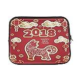 EIJODNL Schutzhülle für MacBook Air 27,9 cm (11 Zoll), Motiv Hund ist EIN Symbol des chinesischen Jahres, weich, 2 Seiten