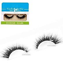 Maquillaje 100% Real caballo de pelo natural pestañas falsas extensión pestañas ojos lashes